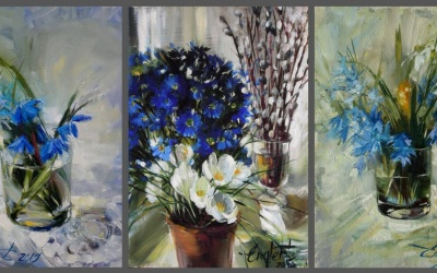 Сині очі Весни - майстер клас сучасного живопису Наталії Енглерт