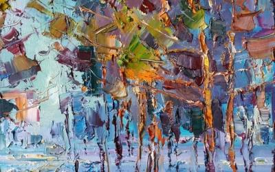 Сонячний промінь у лісі - майстер клас олійного живопису від відомого українського художника Олега Луньова.
