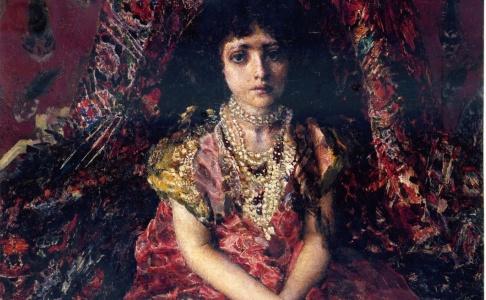 Дівчинка на тлі персидського килиму - Майстер клас по копіюванню картини М. Врубеля