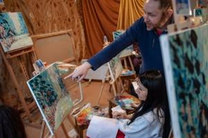 Майстер клас олійного живопису. Зимова казка з Олегом Луньовим