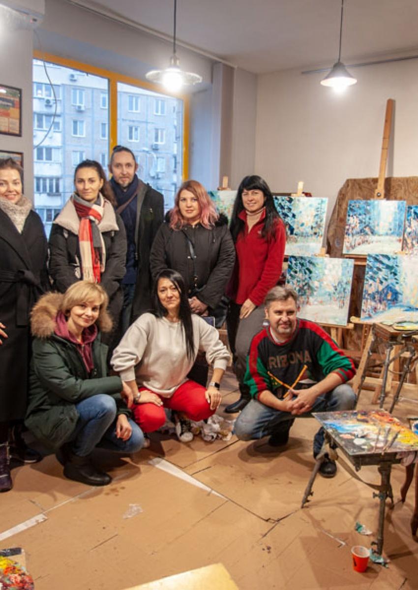 Майстер клас олійного живопису. Зимова казка з Олегом Луньовим 2020