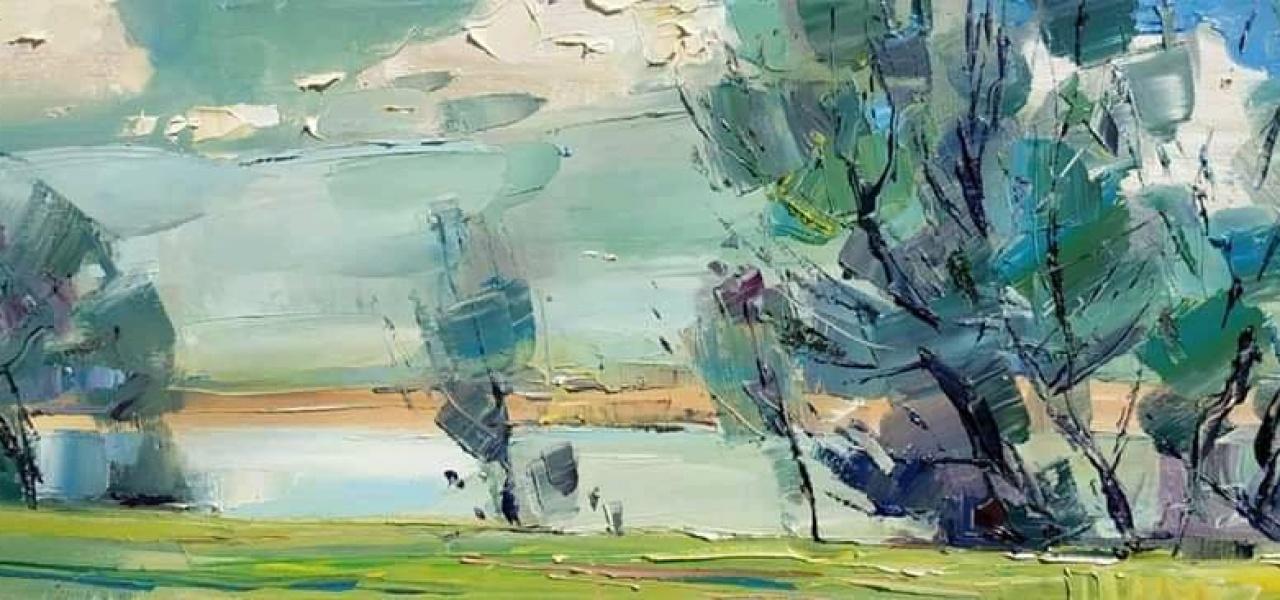 Весняний настрій в пейзажі Олега Луньова 1